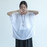 五分袖T恤-純色圓領喇叭袖鏤空舒適休閒女上衣3色73nl19[巴黎精品]