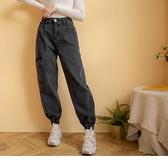 《BA6023》率性遮肉修飾口袋縮口工裝長褲 OrangeBear