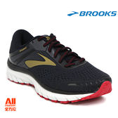 【BROOKS】男款支撐型慢跑鞋 Adrenaline GTS18系列 - 黑金色(712E068)-現貨/預購全方位跑步概念館