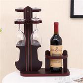 酒架  創意紅酒杯架木質杯架倒掛酒杯架酒瓶架家用紅酒架igo  歐韓流行館