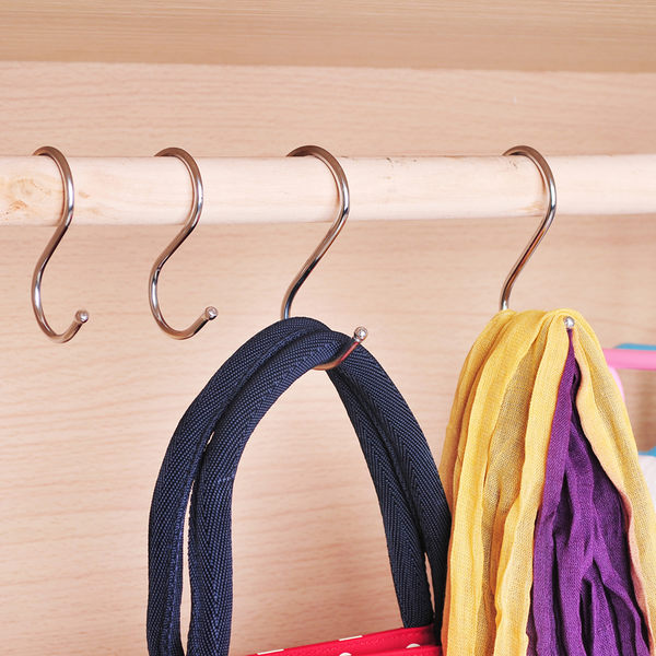 【TT104】掛鉤門後衣鉤簡約浴室廚房不銹鋼S掛鉤衣架單鉤衣服曬衣掛衣鉤