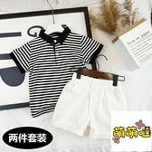 男童夏裝嬰兒男短袖寶寶polo衫兒童t恤小童衣服男寶寶【萌萌噠】