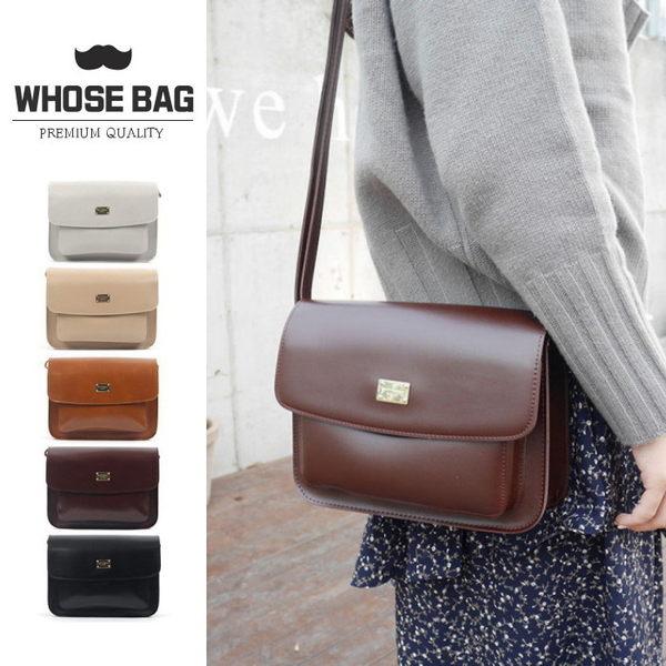 【WHOSE BAG】韓國嚴選時尚厚實掀蓋皮革側背包 NO.LM168
