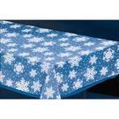 聖誕節 裝飾 餐具 塑膠桌巾-透明雪花
