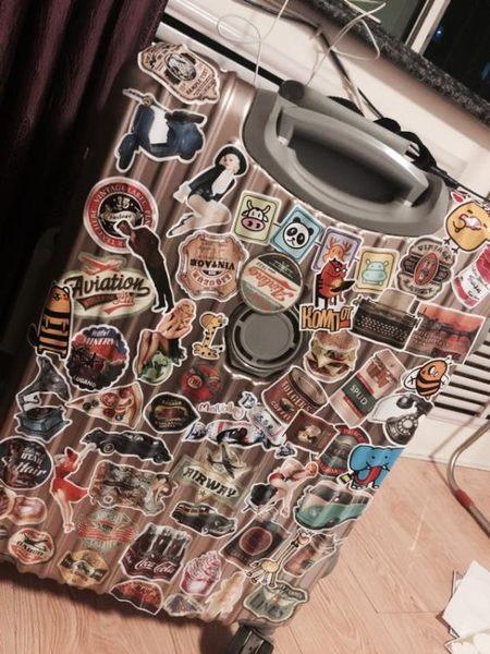 39個圖案復古貼紙 旅行箱貼紙 拉桿箱貼紙筆記本電腦貼紙箱貼吉他