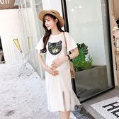 新品夏季孕婦裝連衣裙 正韓寬松顯瘦中長版孕婦T恤魚尾裙純棉短袖