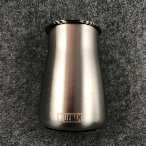 【沐湛咖啡】高質感 MZ篩粉器 聞香杯 接粉杯 不銹鋼/消光黑 底部止滑 沖煮神器 磨豆機必備