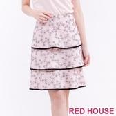 【RED HOUSE 蕾赫斯】櫻花蛋糕裙(共2色)