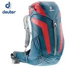 丹大戶外【Deuter】德國 AC Lite 26L 網架直立式拔熱透氣休閒旅遊登山背包 3420316 深藍/紅