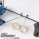 無耳洞耳環 現貨 韓國金屬感立體 幾何珍珠 吊飾夾式耳環 S91297 批發價 Danica 韓系飾品 韓國連線