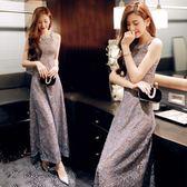 洋裝 禮服 宴會晚禮服裙高貴優雅年會性感端莊大氣長款連身裙 巴黎春天