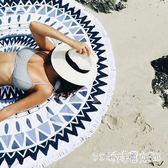 野餐墊戶外海邊便攜超輕防沙野餐布墊子席必備用品 圓形防潮水沙灘地墊 LH3385【艾菲爾女王】