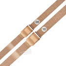 Watchband / 8.10mm / 各品牌通用 細緻透亮 輕巧耐用 米蘭編織不鏽鋼錶帶 玫瑰金色 #849-21-RG