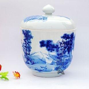 陶瓷 古青花瓷 古典家居擺件工藝花瓶