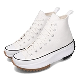 Converse 休閒鞋 Run Star Hike 白 黑 女鞋 運動鞋 鋸齒鞋 厚底 【ACS】 166799C