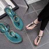 夾腳涼鞋 平跟夾趾涼鞋女簡約羅馬鞋平底女士夾腳涼鞋女LJ10156『科炫3C』