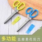 廚房刀具/食品剪刀 多功能五層蔥花剪刀 兩色可選 dayneeds