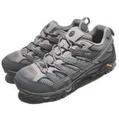 Merrell 戶外鞋 Moab 2 GTX 灰 深藍 Gore-Tex 防水 透氣 越野 休閒鞋 運動鞋 男鞋【ACS】 ML02531
