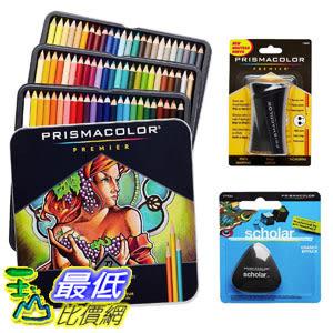 [106美國直購] Prismacolor 彩筆 Colored Pencils Box of 72 Assorted Colors, Triangular Scholar Pencil