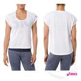 亞瑟士ASICS 女短袖T恤(白) 寬版設計 方便舒適  瑜珈上衣 151391-0014【 胖媛的店 】