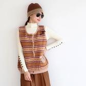 正韓 民族圖案羊毛混紡針織背心 (BAXV) 預購