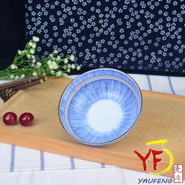 【日本美濃燒】彩虹十草 4.75吋圓缽/碗 線條紋
