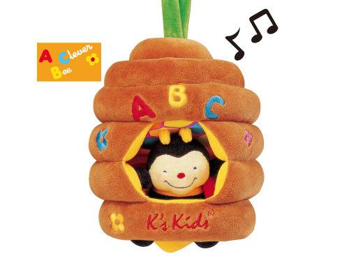書立得-【美國Ks Kids】拉繩音樂蜜蜂Musical Pull Bee Hive(KA10323)