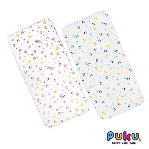 【奇買親子購物網】PUKU 印花紗布澡巾(2入) (藍色/粉色)