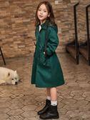女童風衣兒童外套中長款春秋2019新款中大童秋裝女孩韓版洋氣童裝