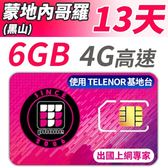 【TPHONE上網專家】蒙地內哥羅 (黑山) 高速上網 包含6GB網路超大流量 插卡即用 13天