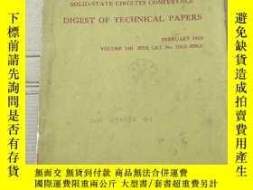 二手書博民逛書店1970罕見IEEE international solid-state circuits conference
