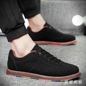新款潮流男鞋子學生平底板鞋休閒小皮鞋青少年英倫潮鞋 QQ8046『東京衣社』