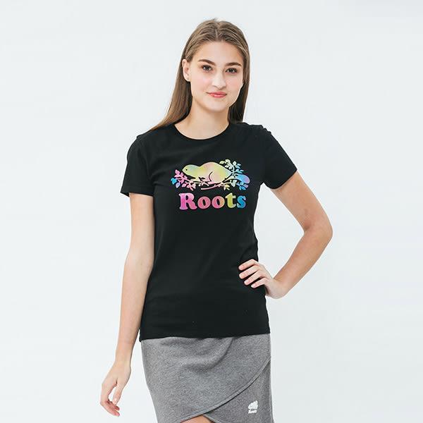 Roots 漸層海狸LOGO短袖T恤
