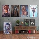 美式木版畫家居餐客廳歐式裝飾畫店鋪墻上壁飾酒吧掛畫復古木板畫 【618特惠】