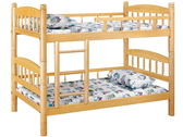 雙層床 PK-415-1 白木3.5尺圓柱雙層床  (不含床墊) 【大眾家居舘】