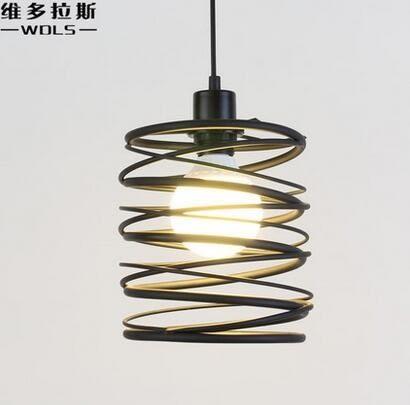 設計師美術精品館北歐簡約單頭鐵藝吊燈創意個性工業風餐廳過道走廊燈吧台藝術燈具