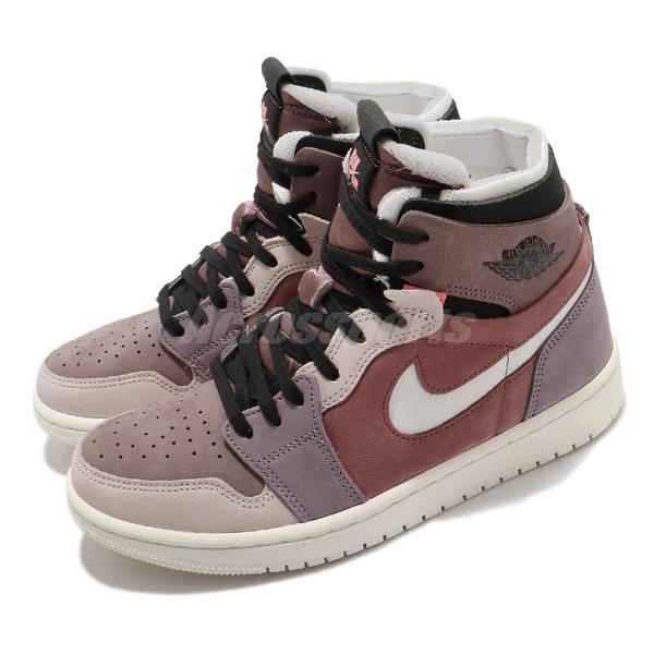 Nike Wmns Air Jordan 1 Zoom Air CMFT 髒粉 粉色 女鞋 AJ1 【ACS】 CT0979-602