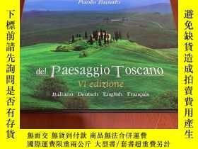 二手書博民逛書店del罕見paesaggio toscano vl edizione 橫開本Y177057 paolo bus