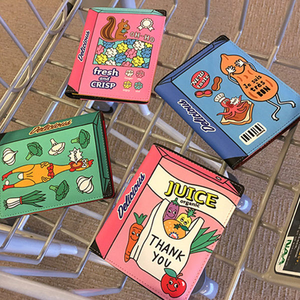 普普風包裝盒造型護照包 證件夾 護照夾