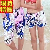 情侶款海灘褲(單件)-防水衝浪塗鴉造型街頭設計男女短褲66z28【時尚巴黎】