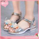 女童涼鞋 兒童鞋女童涼鞋新款夏季公主蝴蝶結水鉆小女孩水晶舞蹈鞋百搭 城市科技