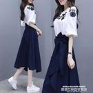 兩件式洋裝 夏天很仙的連身裙學生小清新裙...