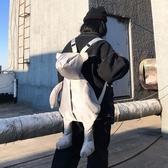 書包女ins風韓版可愛個性熊學生背包男多用防水後背包時尚手提包 米娜小鋪