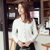 2018春裝白色襯衫女長袖職業