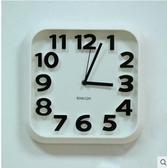 【方形白色】siton時尚創意靜音掛鐘個性數字鐘14英寸