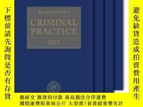 二手書博民逛書店Blackstone s罕見Criminal Practice