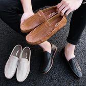 豆豆鞋懶人一腳蹬男士潮鞋夏季休閒鞋