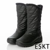 【ESKT】SN232 女中筒雪鞋『黑』SN232 雪靴.賞雪必備.冰爪.防滑鞋底.雪地.靴.賞雪.滑雪.冬天.保暖