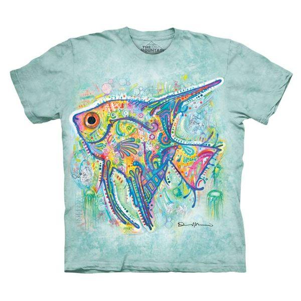【摩達客】(預購)(大尺碼4XL、5XL)美國進口The Mountain 彩繪熱帶魚 純棉環保短袖T恤(10416045126a)