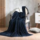 法蘭絨 羊羔絨 雙層超柔暖感萬用毯 毛毯/瑪卡龍系列-午夜藍[鴻宇]